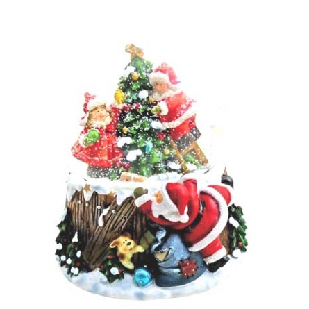 "Snowglobe ""Decorating the tree"""