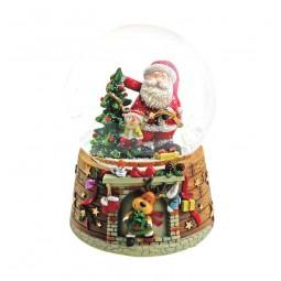 """Snowglobe """"Santa at the tree"""""""