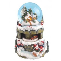 Snow globe snowmen/sledges