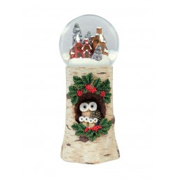 Snow globe (120 mm) with owls