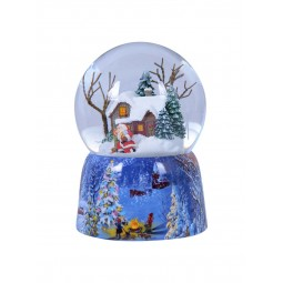 Snowglobe, porcelain base, Christmas house