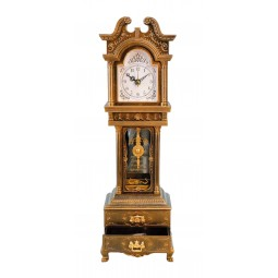 Grandfather clock with 2 drawers