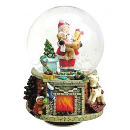 "Snowglobe ""Santa with presents"""