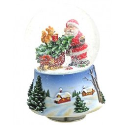 Snow globe Santa/Squirrels