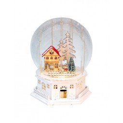 Musicbox Globe with a house scene