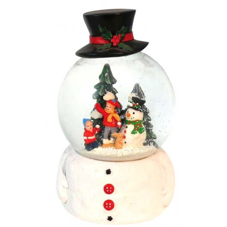 """Musicbox """"snowglobe with hat"""""""