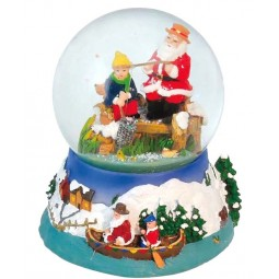 "Snowglobe ""Fishing Santa"""