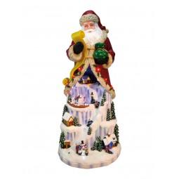 """Big Santa with Ice landscape under his coat"""