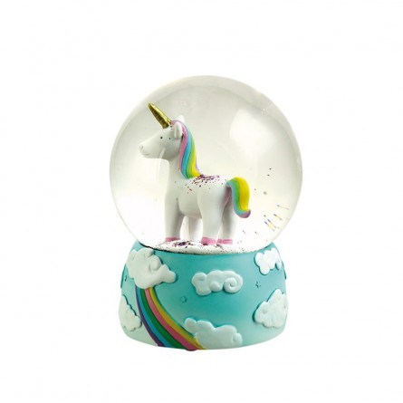 Glitterglobe Unicorn 120 mm