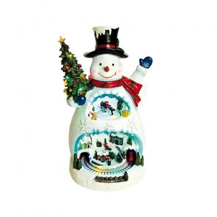 Scene with snowman