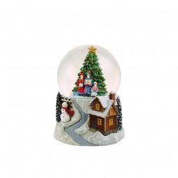 Snowglobe christmastree scene