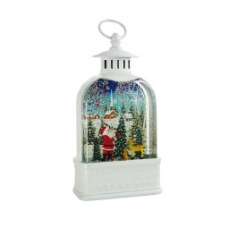 "White lantern ""Santa in the forest"""