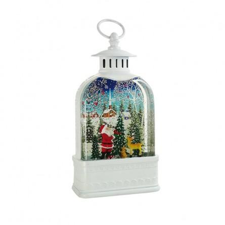 "White lantern ""Santa in the forest"""