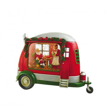Camper with Santa and his wife