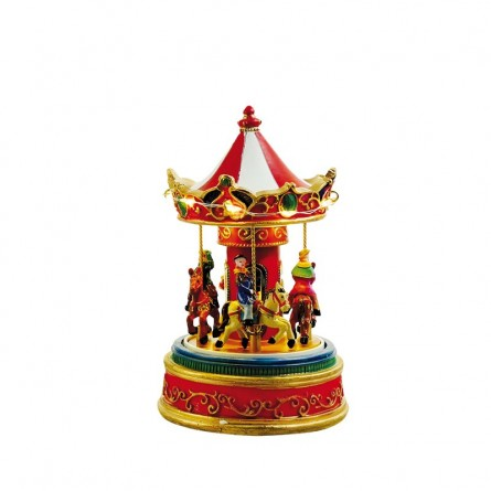 Small illuminated nostalgic carousel