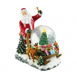Santa with snowglobe on his sleigh