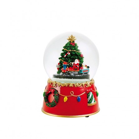 Snowglobe with christmas tree and train