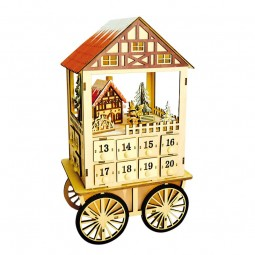 Advent calendar wooden waggon