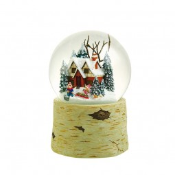 120 mm snowglobe with children