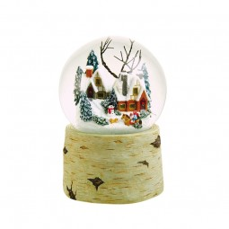 120 mm snowglobe with children riding