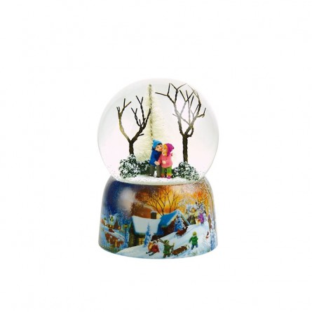 100 mm snowglobe with children in the forest