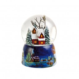 100 mm snowglobe illuminated tree in the forest
