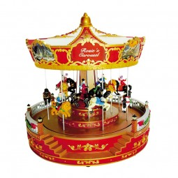 Nostalgic carousel plays 8 different melodies