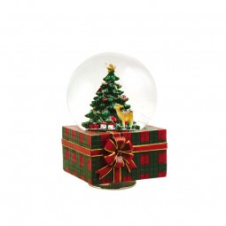 Snow globe music box Christmas present