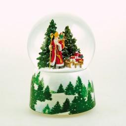 Music box Snow globe saint Nicholas