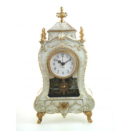 Chimney clock white