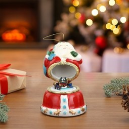 Porcelain Music Box – Santa