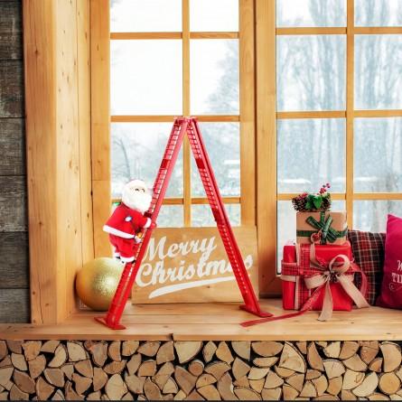 "17"" Tabletop Climber - Santa"