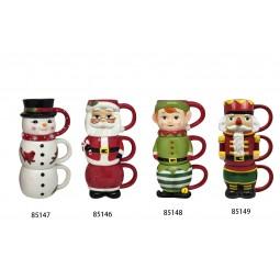 12oz Nostalgic Stacking Mug - Snowman