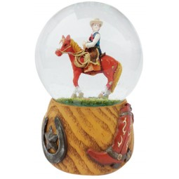 Snow globe cowboy