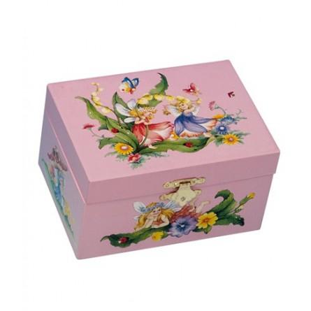 Jewelry box pink fairies