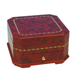 Brown high quality jewelry box with drawer