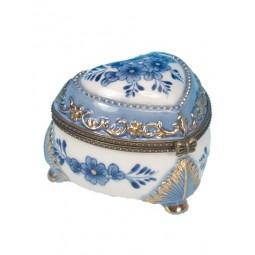 Pill box blue flowers