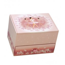 Ballerina jewelry box with drawer