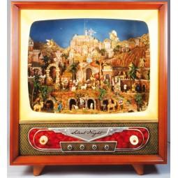 Large TV nativity scene