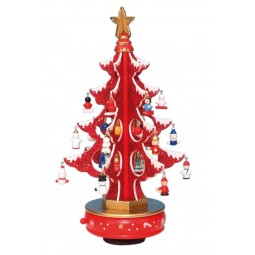 6 tree red glitter 320 mm