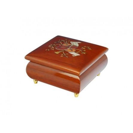 Square jewelry box violin