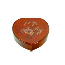 Heart shaped jewelry box with flowers