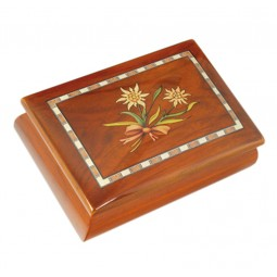 Classic jewelry box with Edelweiss