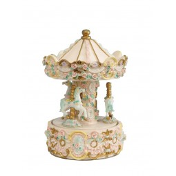 Beige carousel made of poly stone