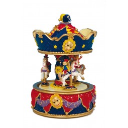 Harlequins carousel made of poly stone
