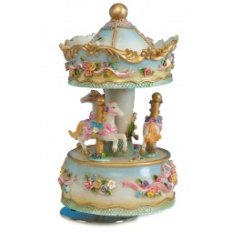 Flower carousel made of poly stone