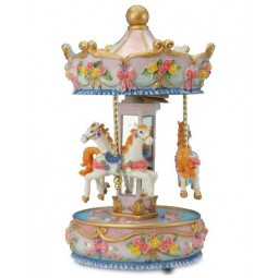 Blue carousel made of poly stone
