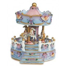 Angel bust carousel with porch made of poly stone