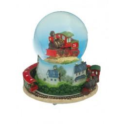 Snow globe train