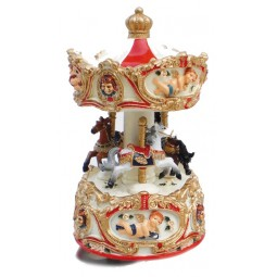 Angel carousel small red